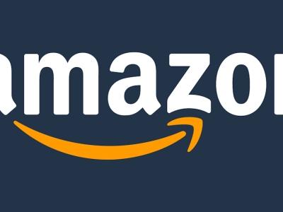 Amazon logo - white on blue